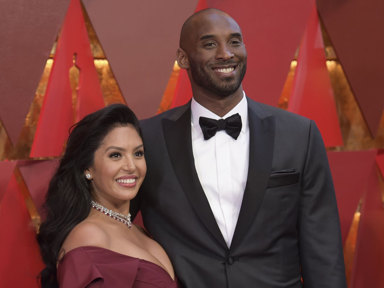Vanessa Laine Bryant and Kobe Bryant arrive at the Oscars at the Dolby Theatre in Los Angeles in 2018.