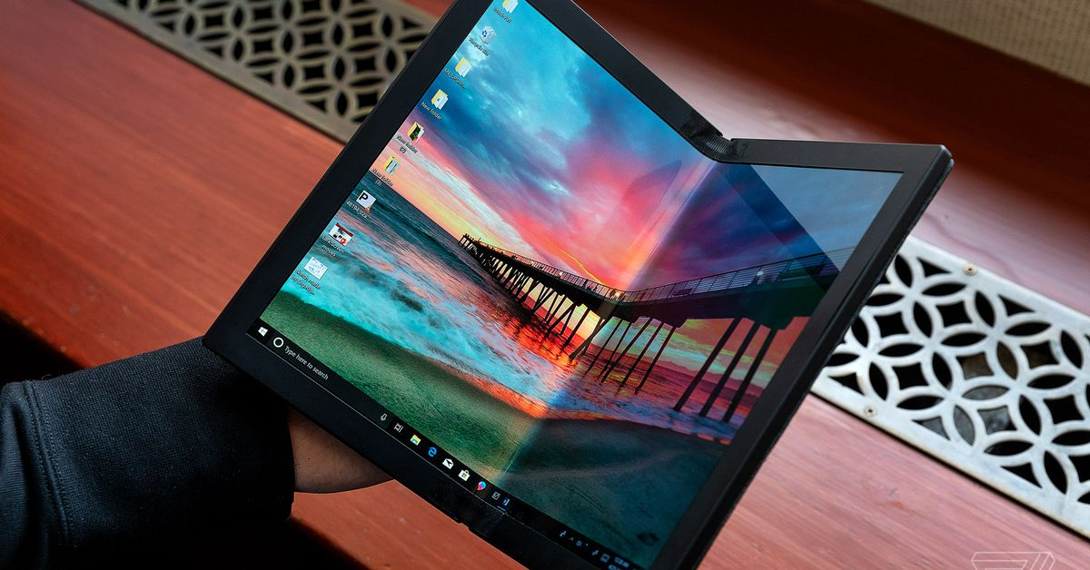 Lenovo shows off the world's first foldable PC - The Verge