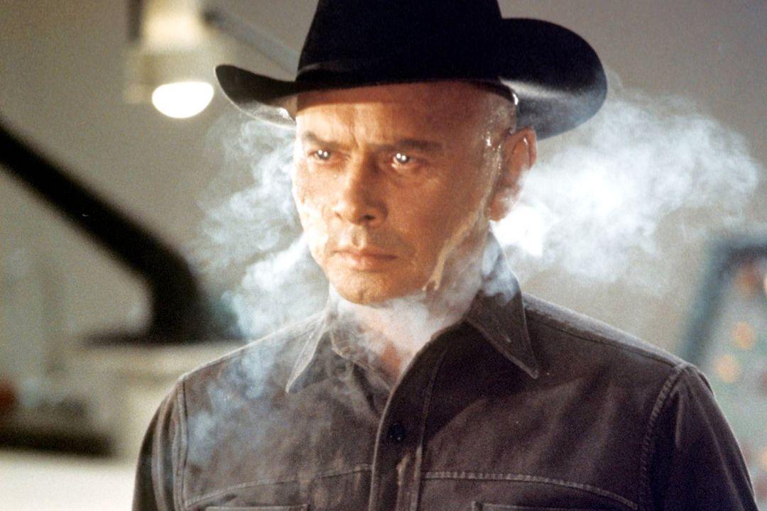 Yul Brynner as the unnamed gunslinger in 1973's Westworld.