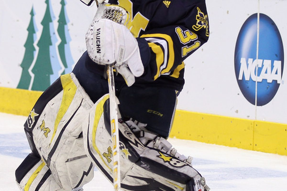 Columbus signed goaltender Shawn Hunwick for the rest of this season.  (Photo by Elsa/Getty Images)