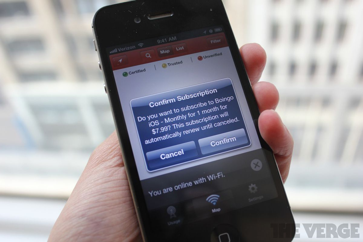 Boingo for iOS adds the option to buy Wi-Fi as an in-app purchase