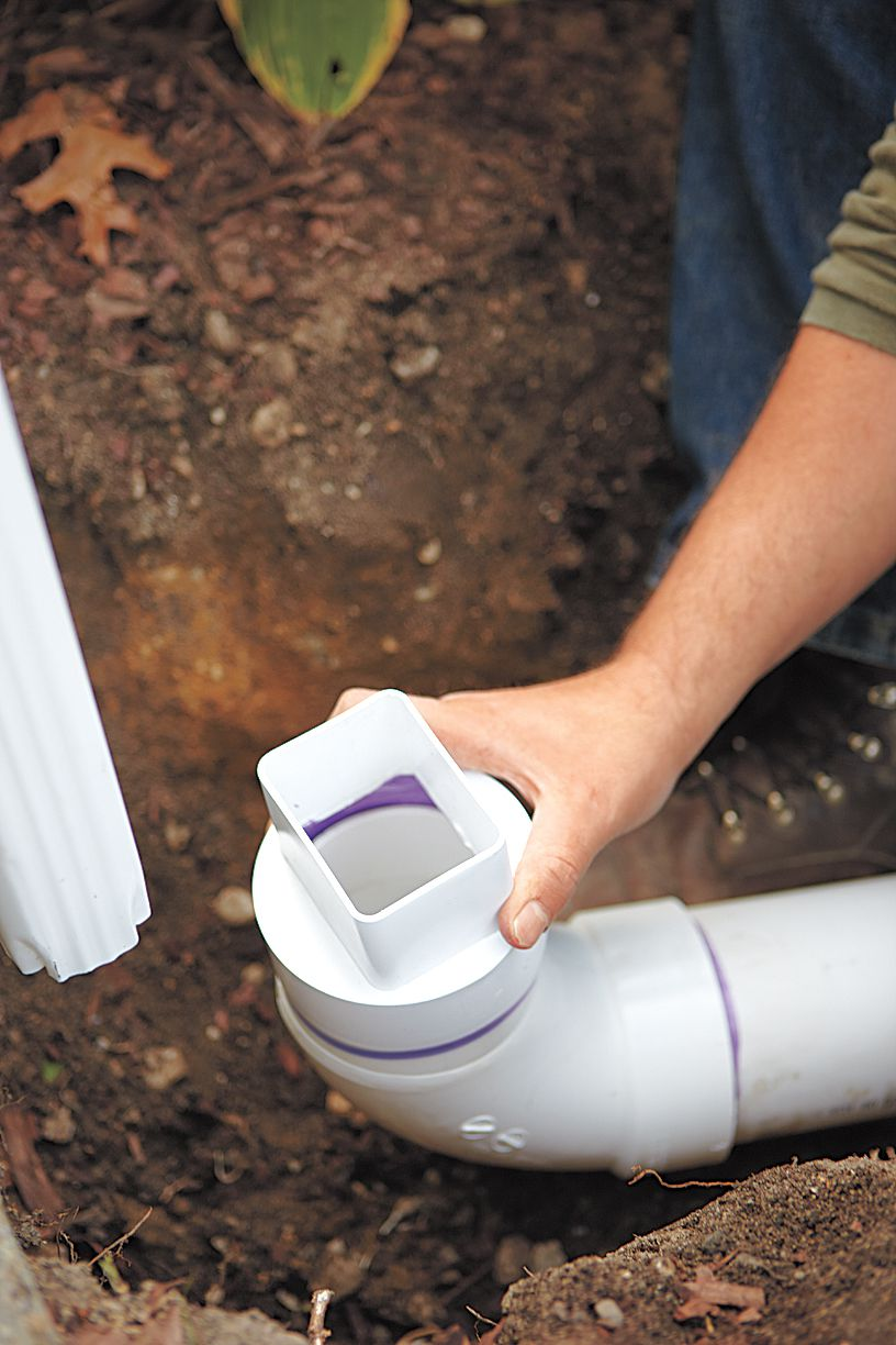 Downspout Adaptor For Dry Well Installation