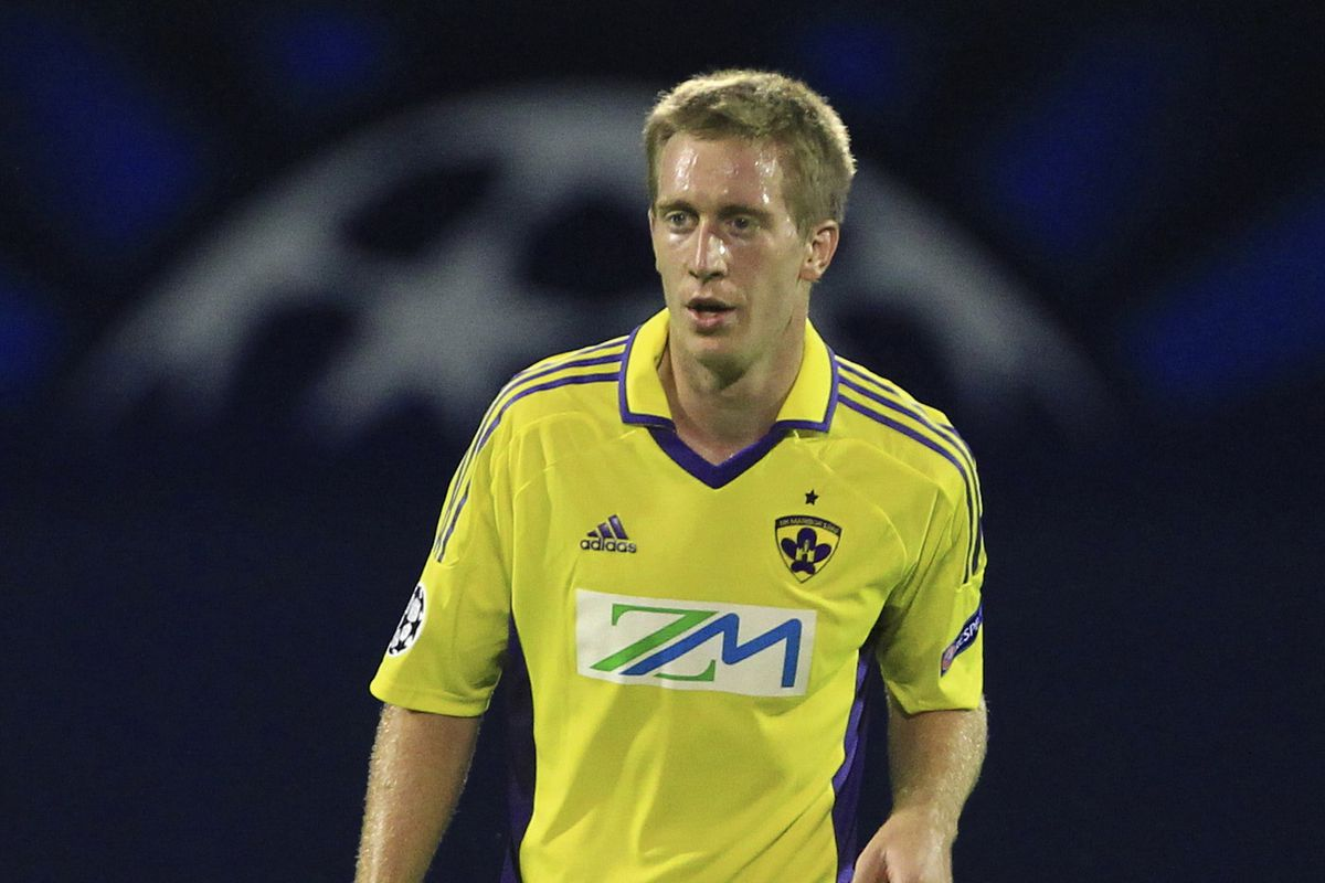 Beric playing in the Champions League for Maribor in 2012.