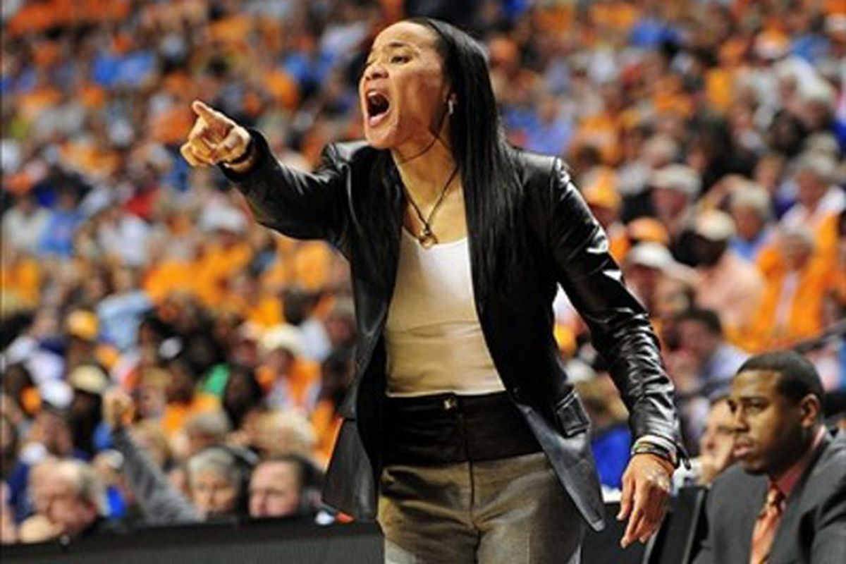 Coach Staley looks to have garnet-and-black clad supporters behind her in NCAA tournament games beginning next season.