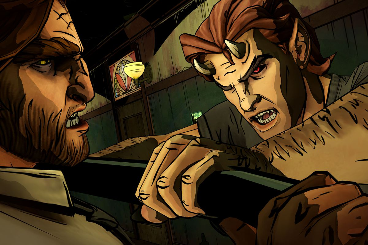 The Wolf Among Us - Bigby Wolf fighting a horned enemy