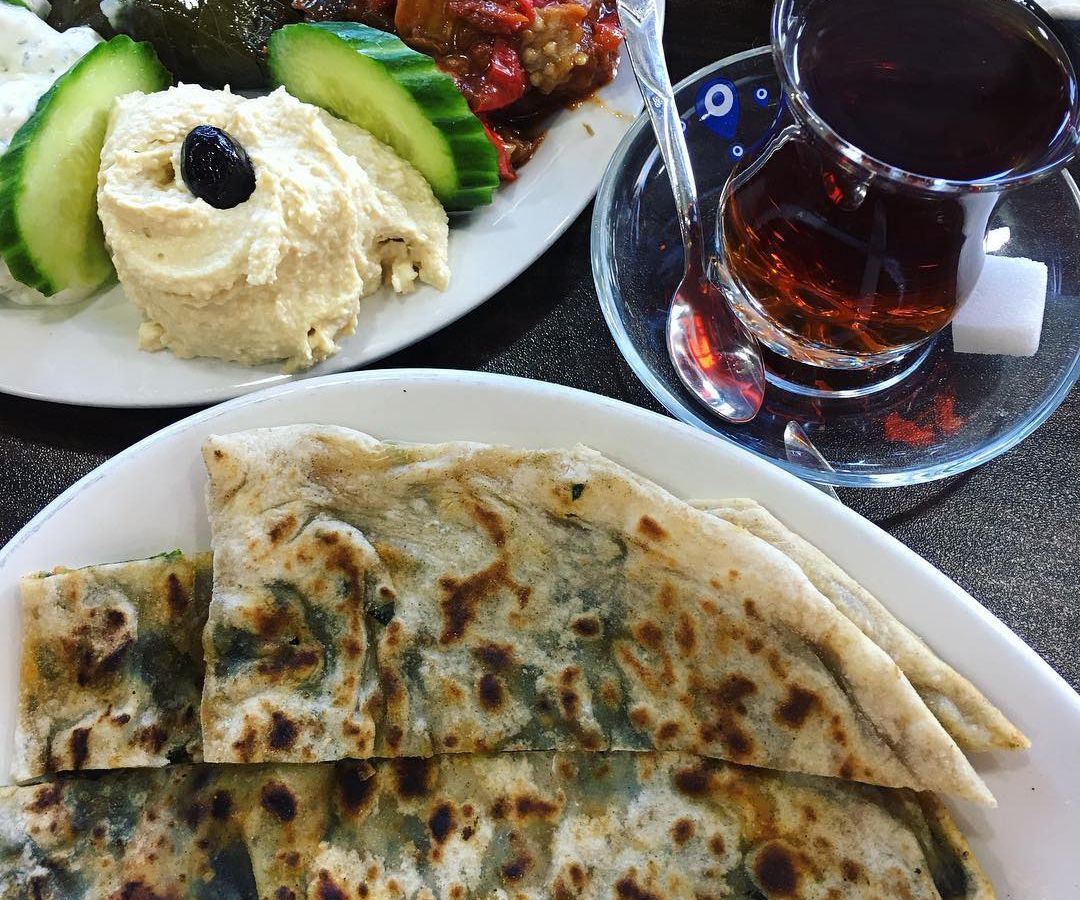 Bread and Turkish Tea at 01 Adana Newington Green, one of the best value restaurants in north London
