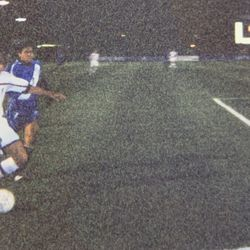 Brandon Smith captured this image of Chris Albright with a disposable camera from the sidelines at Hersheypark Stadium