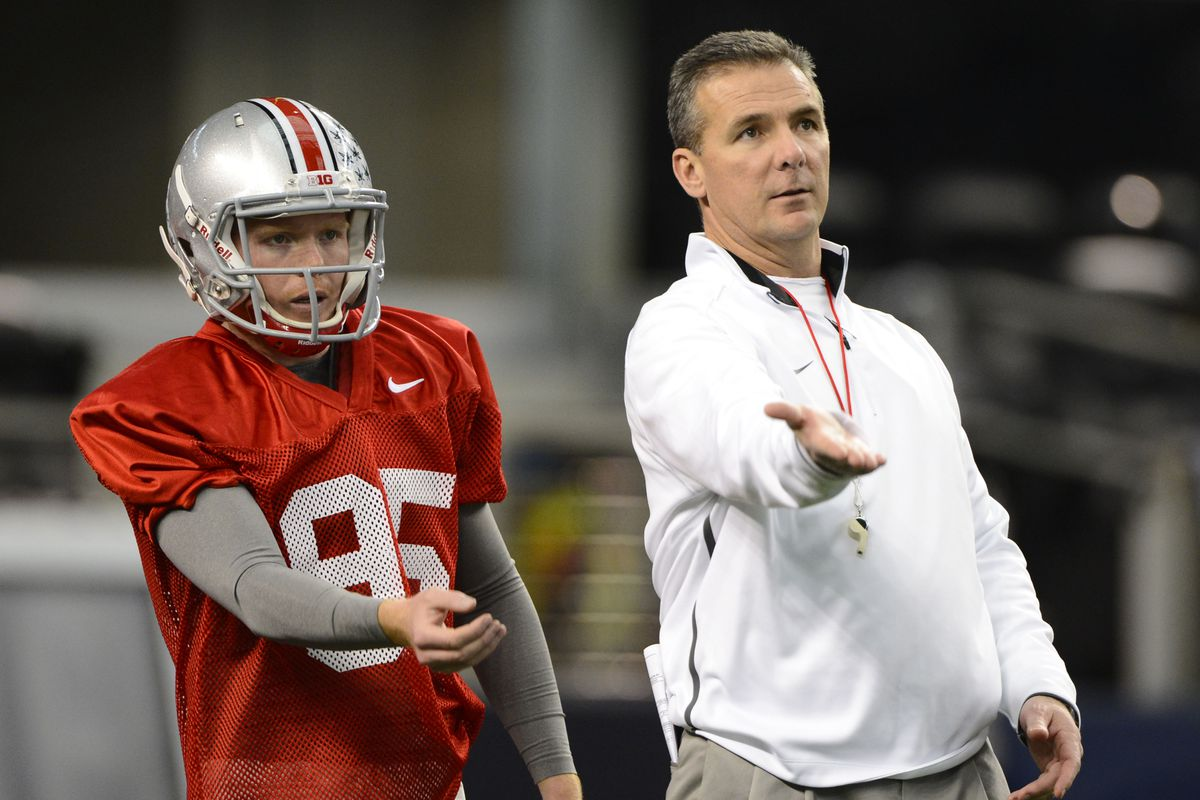 A match made in Special Teams Heaven: Cameron Johnston and Urban Meyer.