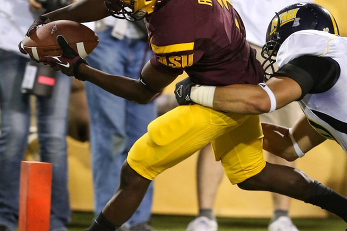 Rick Smith scores his first touchdown as a Sun Devil (Photo: ASU)