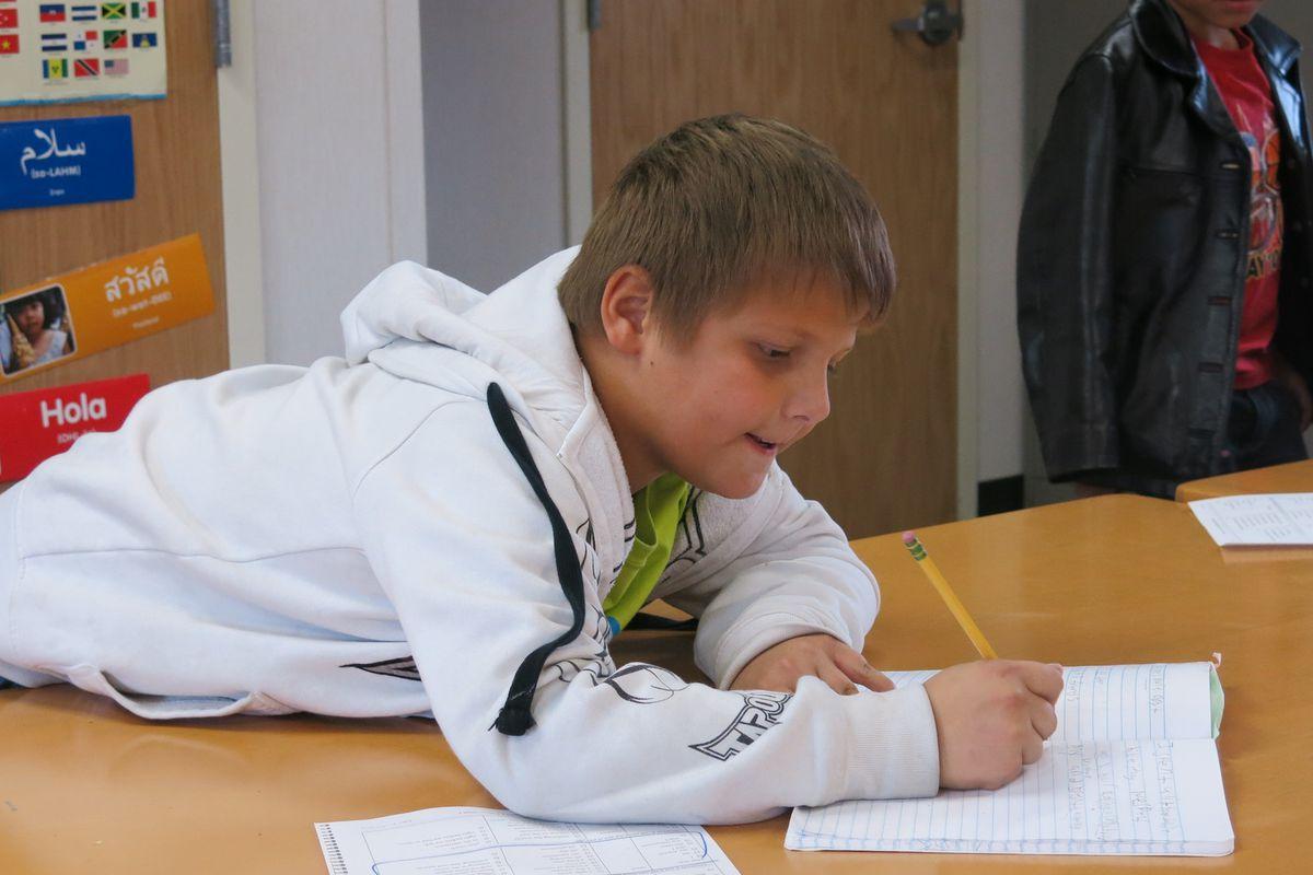 A student at Ellis Elementary.
