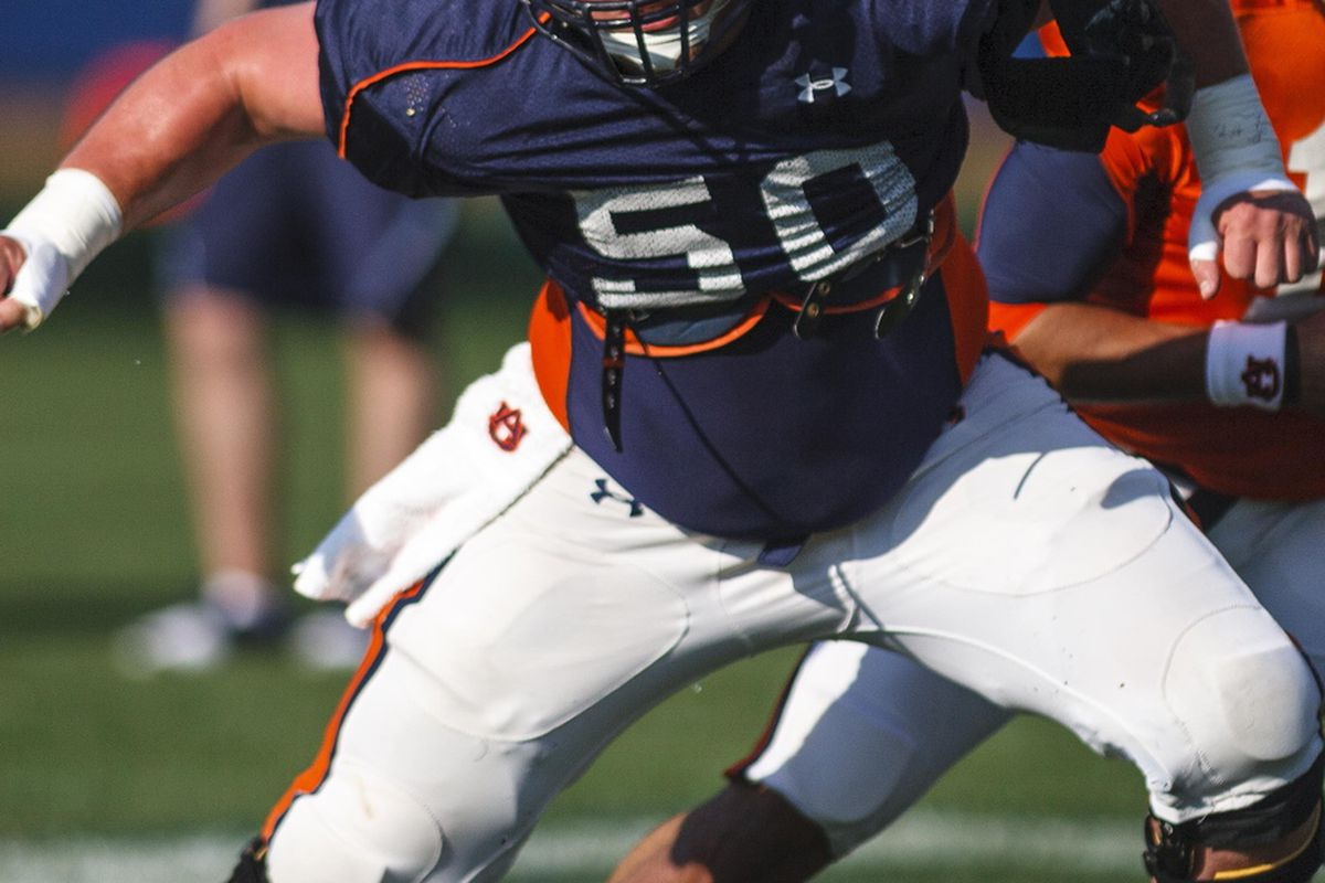 Reese Dismukes is the only returning offensive player to start every game for Auburn in 2011. (<em>photo, Vasha Hunt OANews</em>)