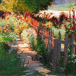 """On Arbor Lane"" by Phyllis F. Horne at HORNE Fine Art through Oct. 11."