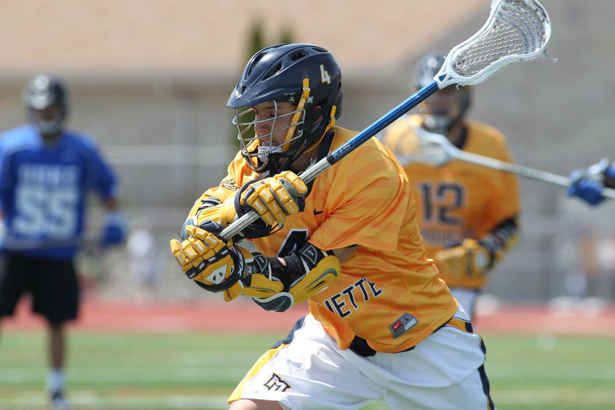 Kyle Whitlow had two goals for Marquette against Notre Dame.