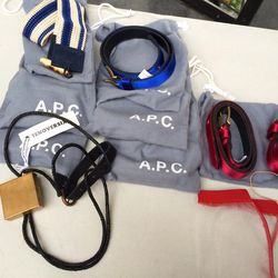 Yes, those are perfect-condition A.P.C. belts.
