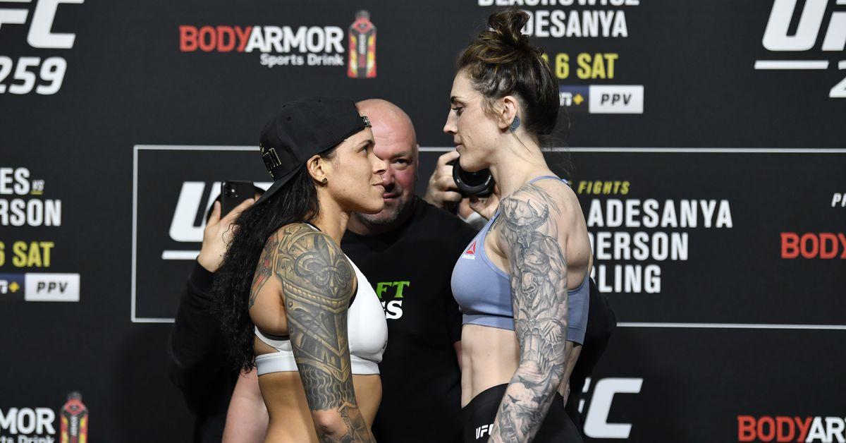 Video: UFC 259 weigh-in staredowns