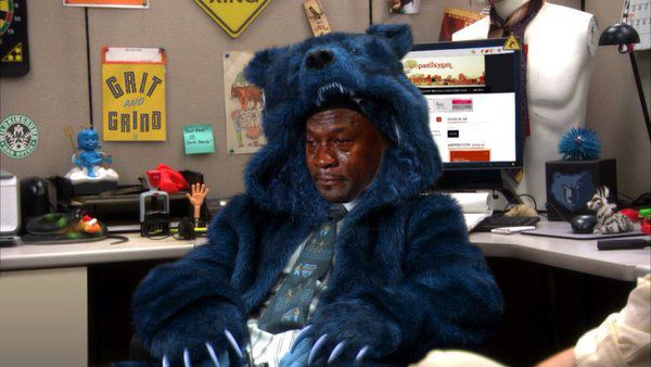 Image result for sad memphis grizzly bear