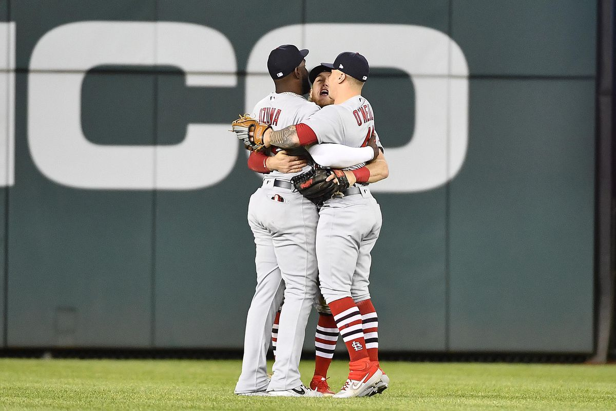 The complications of a crowded outfield Tyler O'Neill Harrison Bader Dexter Fowler Marcell Ozuna Cardinals