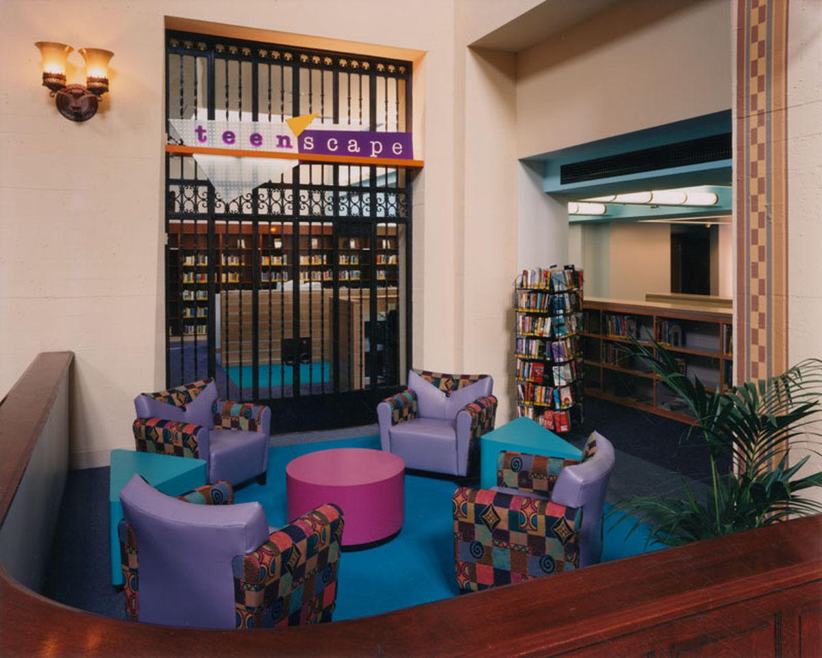 One Of Several Reading Lounges In TeenScape At The Los Angeles Public Library Tom Bonner
