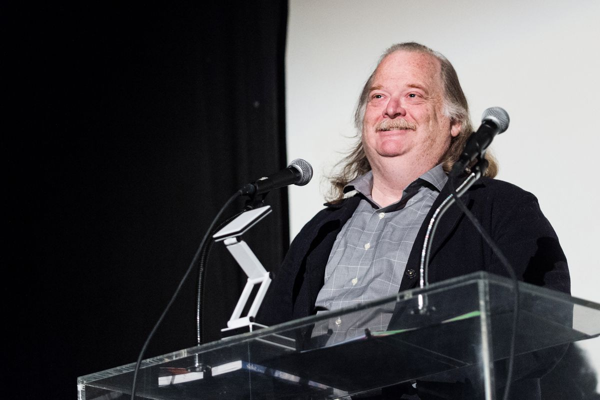Jonathan Gold speaks onstage at Eating Out Loud at the Million Dollar Theater on February 2, 2016 in Los Angeles, California