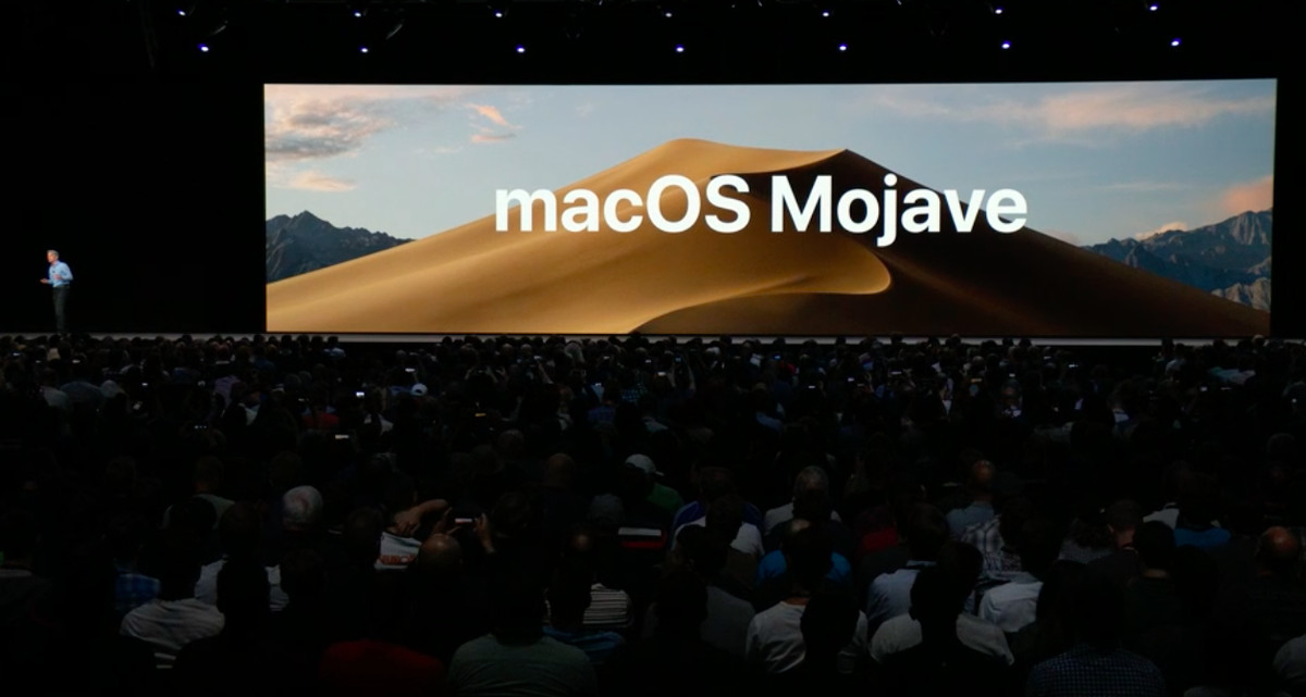 Photo of the new Apple macOS Mojave that premiered at WWDC 2018