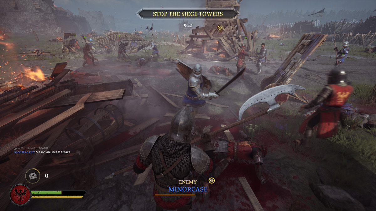 A battlefield in Chivalry 2