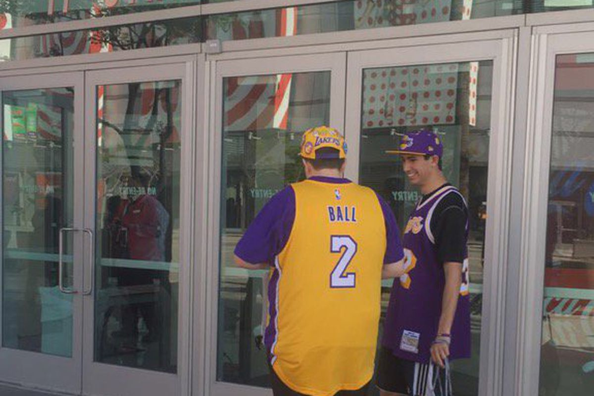 sports shoes ccd0d ab462 Lakers fans are already buying Lonzo Ball jerseys, will ...