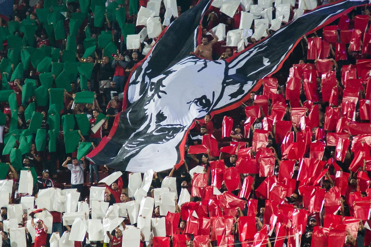 Club Tijuana fans with an impressive display during the match against Tigres UANL.