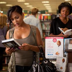 """In this film image released by Sony Pictures - Screen Gems, Meagan Good is shown in a scene from """"Think Like a Man."""""""