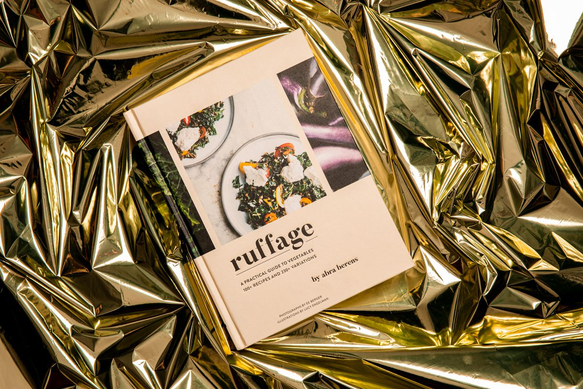 A copy of Ruffage on a gold cellophane background.