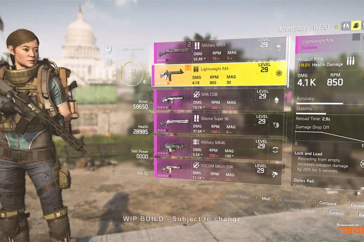 Division 2 looking at guns