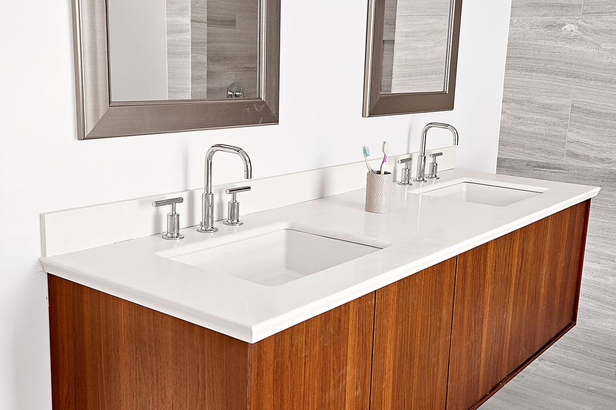 Install A Wall Mount Vanity And Sinks