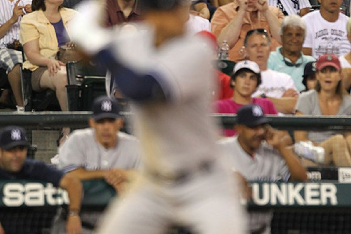 SEATTLE - JULY 09:  Fans hold signs as Alex Rodriguez #13 of the New York Yankees bats against the Seattle Mariners at Safeco Field on July 9 2010 in Seattle Washington. The Yankees defeated the Mariners 6-1. (Photo by Otto Greule Jr/Getty Images)