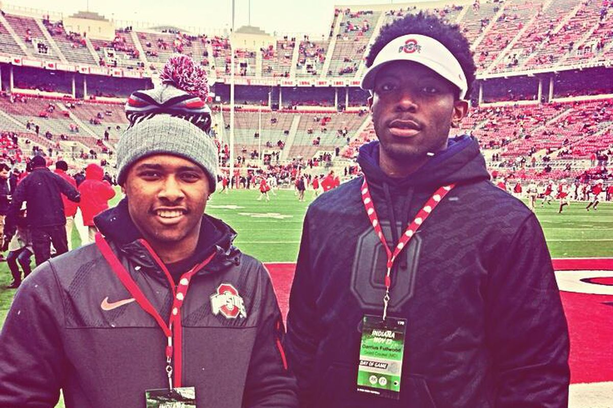 2015 defensive end Darius Fullwood (Right) had a great time on his visit to Ohio State.