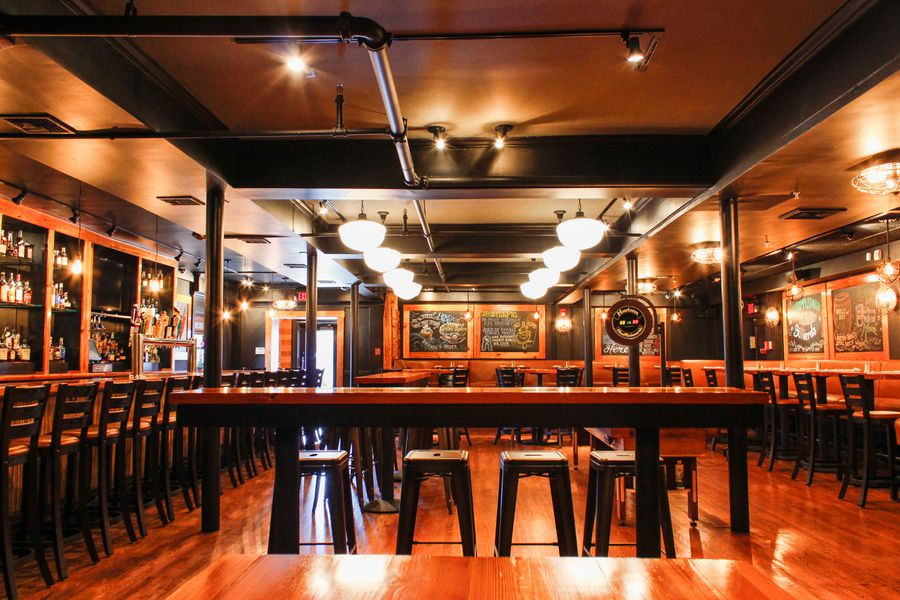 play shuffleboard and arcade games at the hopewell bar & kitchen