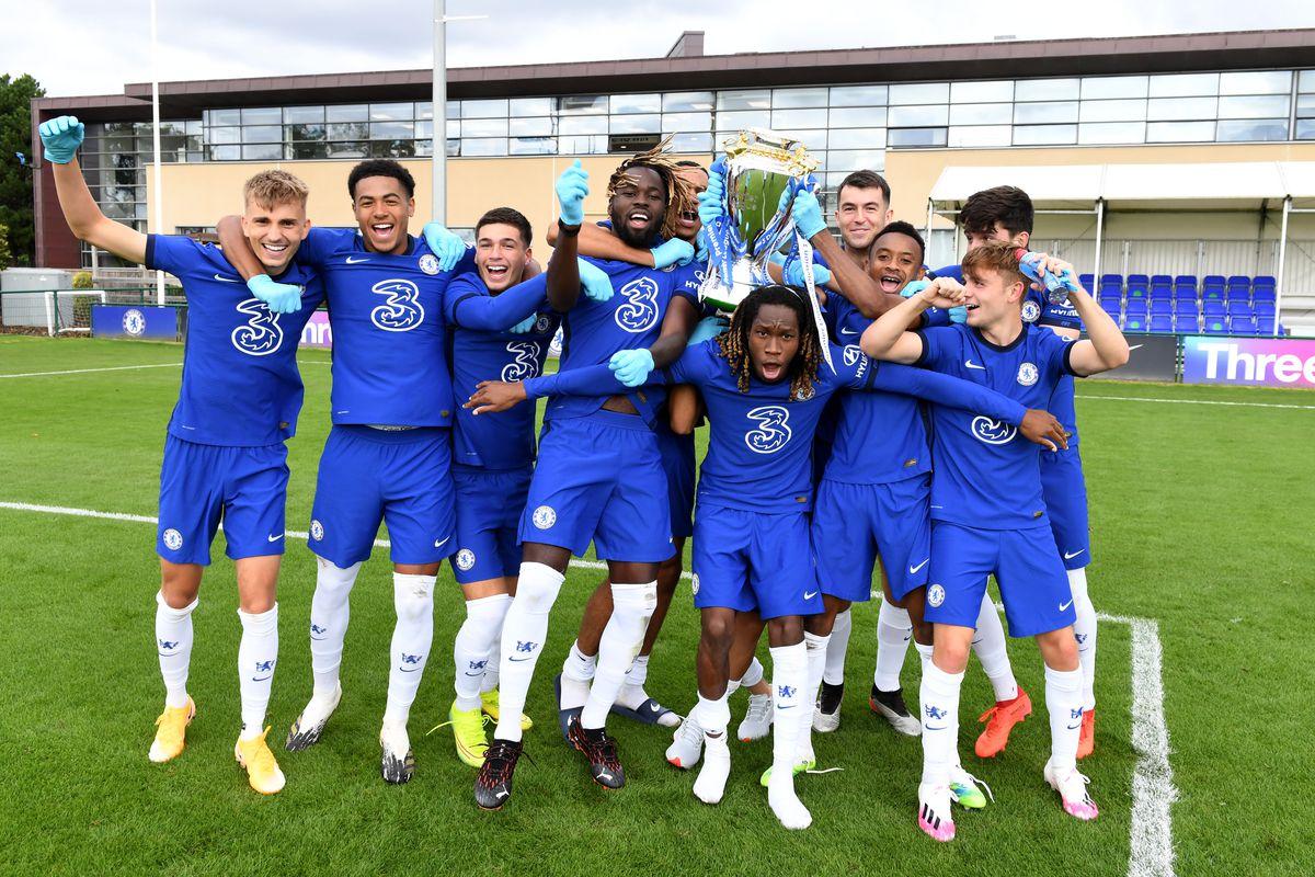 Presentation of the 2019/2020 Premier League 2 Trophy to Chelsea