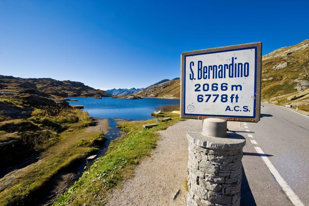 San Bernardino Pass. Switzerland