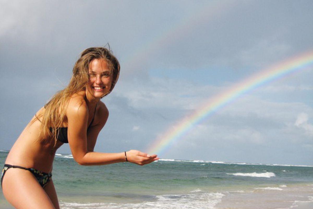 "Bar Refaeli on the beach, via <a href=""http://www.vmagazine.com"">V</a> issue #65"