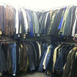 A corner view of the outerwear