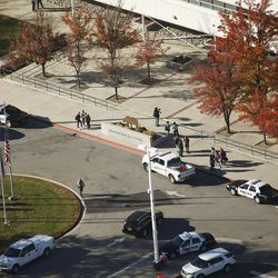 Police put Mountain View High School in Orem on lockdown after five students were stabbed in an apparent attack by a 16-year-old boy on Tuesday, Nov. 15, 2016.