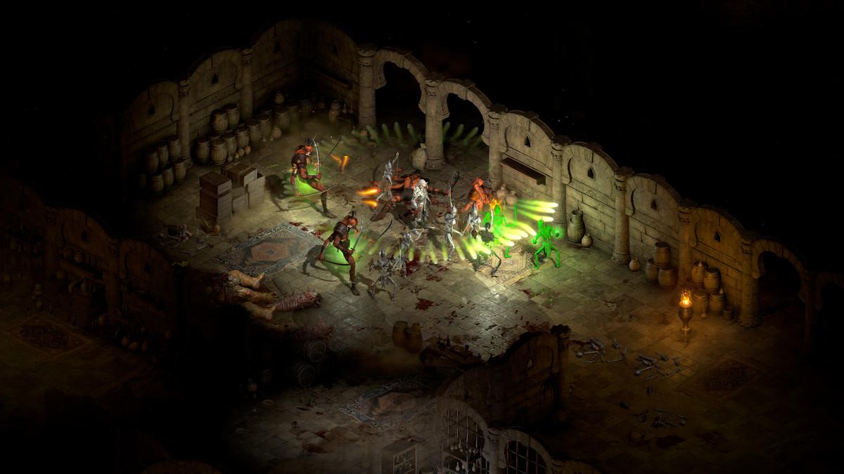 A necromancer summons skeleton warriors