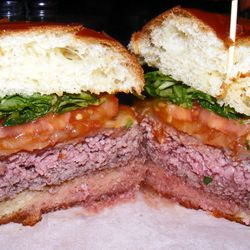 """Burger at Front Toward Enemy by <a href=""""https://www.flickr.com/photos/37619222@N04/13999224326/in/pool-eater"""">The Food Doc"""