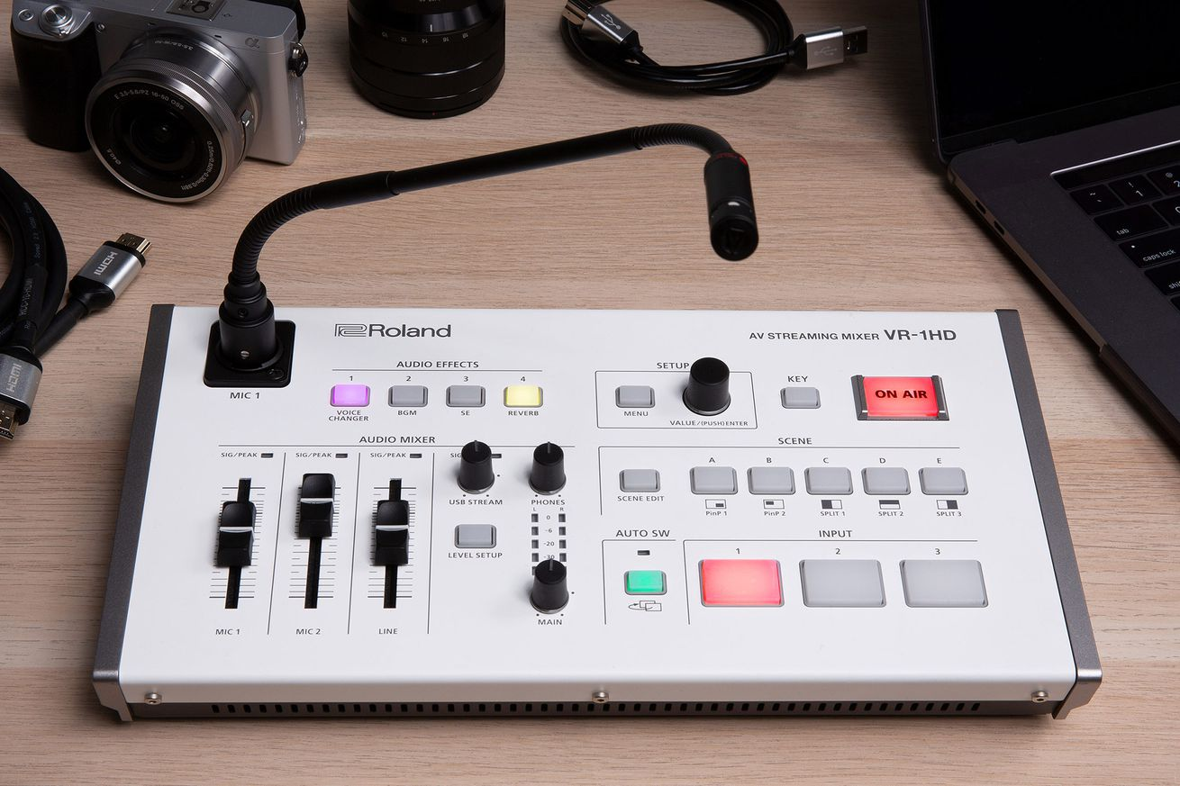 roland introduces 1 500 camera mixing deck for pro live streamers
