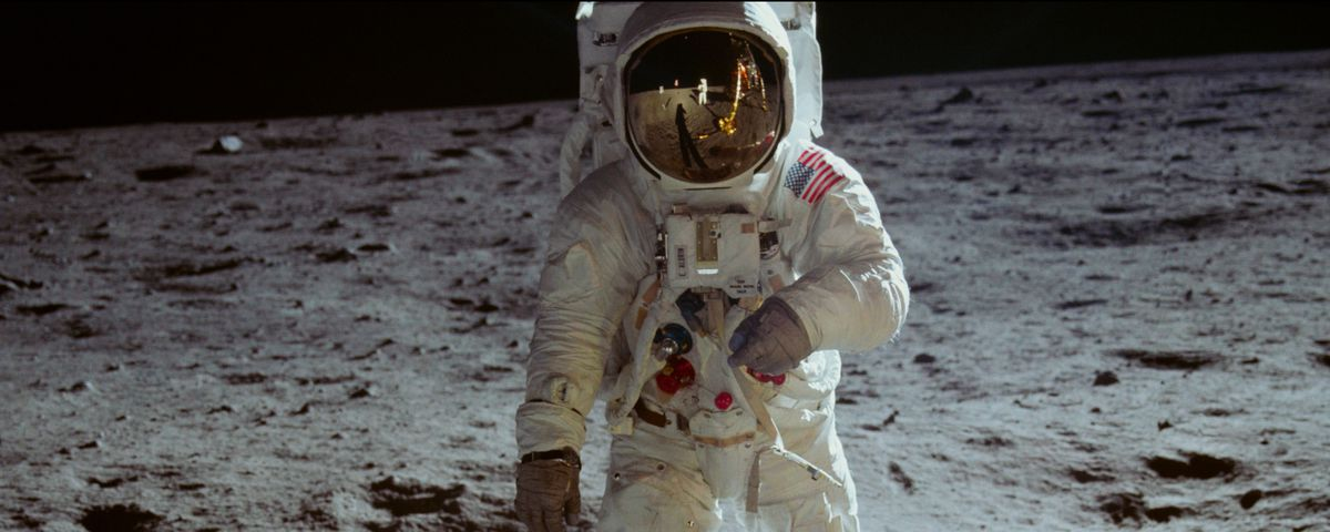 Neil Armstrong on the moon in Apollo 11