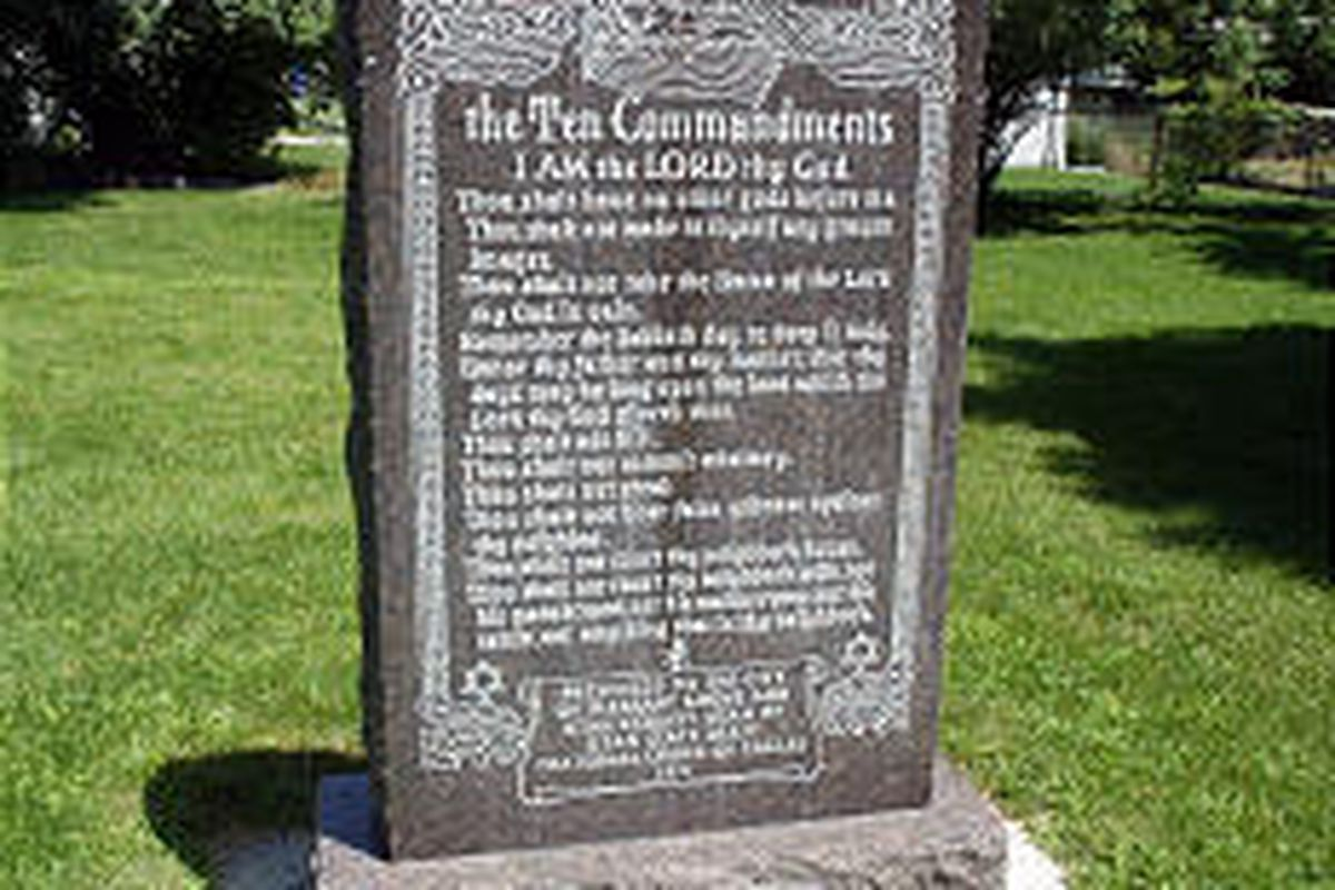 The future of a Ten Commandments monument in a Pleasant Grove park may become clearer in 2005.