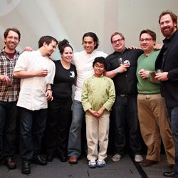 All the chefs ... and Carlos Gaytan's son