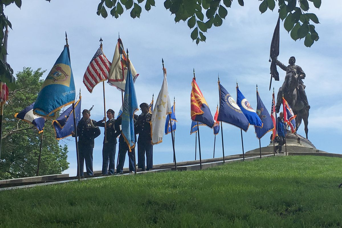 Color guard at Memorial Day ceremony
