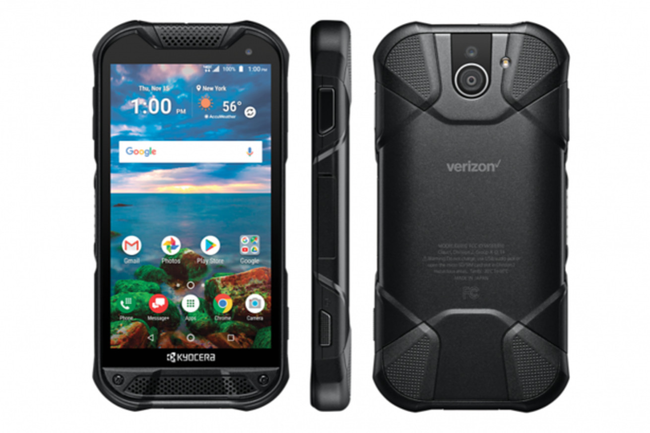 kyocera s new rugged phone has a sapphire screen and a fingerprint sensor