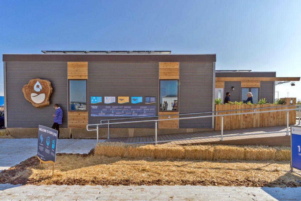 solar-powered house in Solar Decathlon
