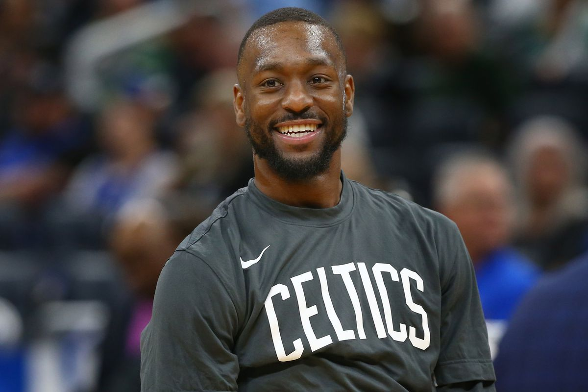 Boston Celtics guard Kemba Walker works out prior to the game against the Orlando Magic at Amway Center.