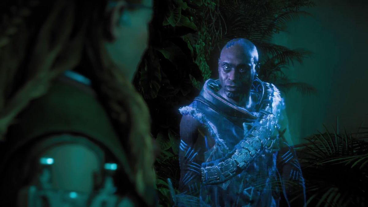 Horizon Zero Dawn - hologram played by Lance Reddick